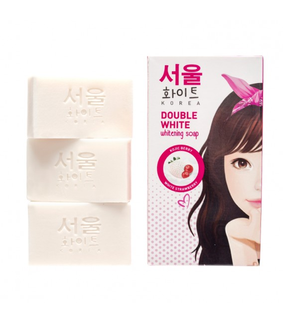 Double White Whitening Soap 3X60G