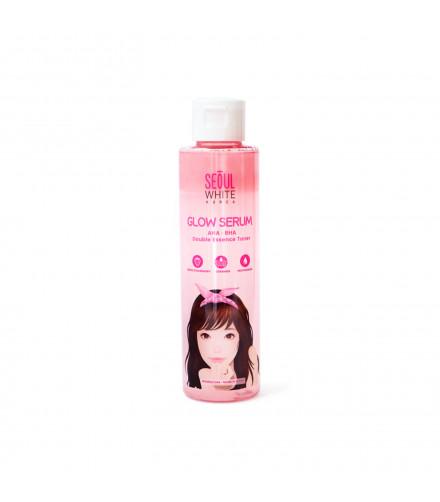 Seoul White Korea Glow Serum AHA BHA Double Essence Toner