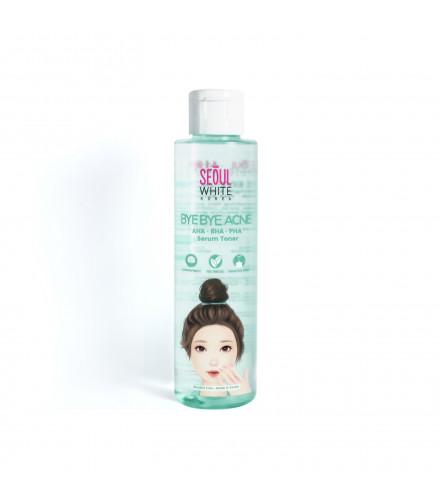 Seoul White Korea BYE BYE ACNE AHA BHA PHA serum toner